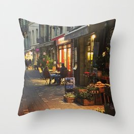 Evening in Provence Village Throw Pillow