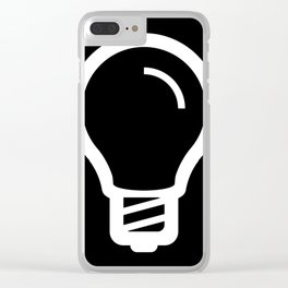 The Thinker's Right - Basic Logo Clear iPhone Case
