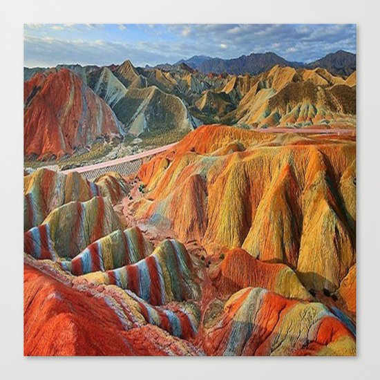 colours mountains Canvas Print