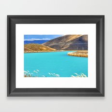 River in New Zealand Framed Art Print
