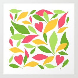Tea leaves 2 Art Print