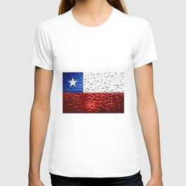 Flag of Chile - Raindrops T-shirt