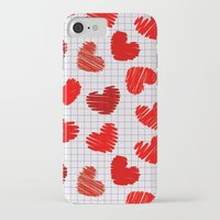notebook iPhone & iPod Cases featuring Notebook of hearts by Ylenia Pizzetti