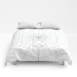 concentric solar system Comforters