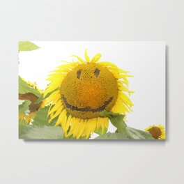 Smiling Sunflower Metal Print