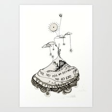 The sky has... Art Print