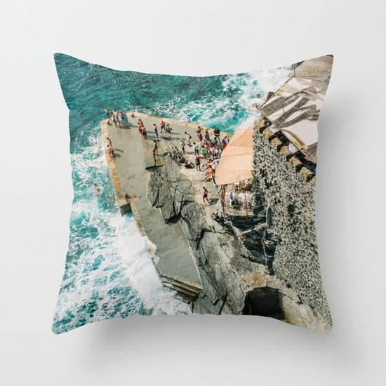 Travel Photography Print Rocky Beach Photo Art Made In Italy Art Print Throw Pillow By Betka Society6