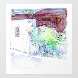 By the Walled Garden Art Print
