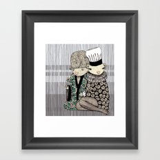 Happy when it rains Framed Art Print