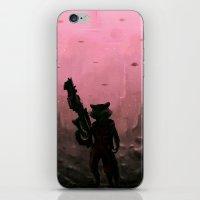 rocket iPhone & iPod Skins featuring Rocket by Varsha Vijayan
