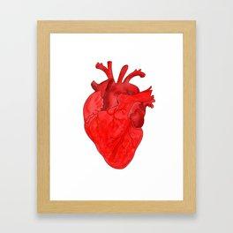 Passion red heart Framed Art Print