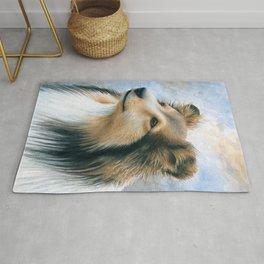 Dog 122 Sheltie Collie Dog Rug