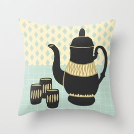 Turkish Coffee Throw Pillow
