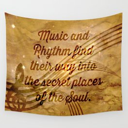 Plato's Quote on Music  Wall Tapestry