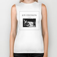 joy division Biker Tanks featuring Joy Division - Closer by NICEALB