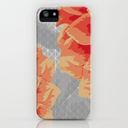 Survival of Strong Flowers iPhone Case