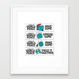 World Peace, Illustration Framed Art Print