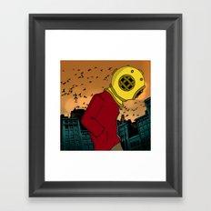 City Diving Framed Art Print