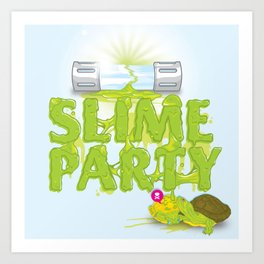 Slime Party Art Print