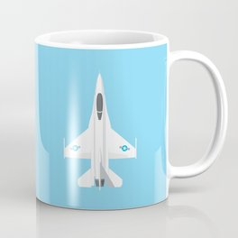 F-16 Falcon Fighter Jet Aircraft - Sky Coffee Mug