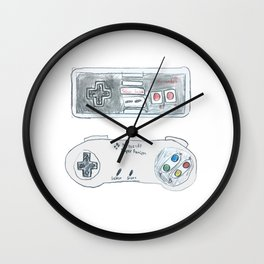 Old School Controllers Wall Clock