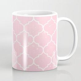 Pink Lattice Pattern Coffee Mug