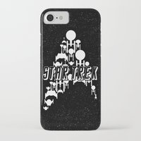 ships iPhone & iPod Cases featuring Ships Trek by Ran Doom