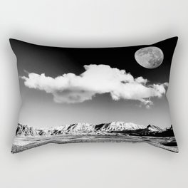 Black Desert Sky & Moon // Red Rock Canyon Las Vegas Mojave Lune Celestial Mountain Range Rectangular Pillow