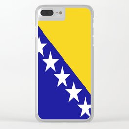 Flag of Bosnia – Bosnian,Bosniak,herzegovinian,bosna,Sarajevo,Balkan,yugoslavia. Clear iPhone Case