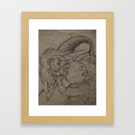 First Encounter  Framed Art Print