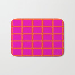 Alium 3 - Delayed Color Contrast Optical Illusion Grid Bath Mat