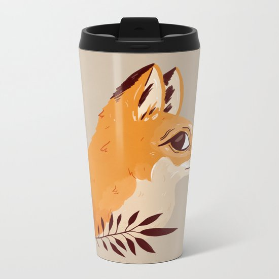 Fox Familiar Metal Travel Mug