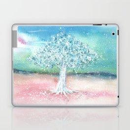 White Tree Illustration Art Laptop & iPad Skin