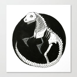 T-Rex Skeleton Canvas Print