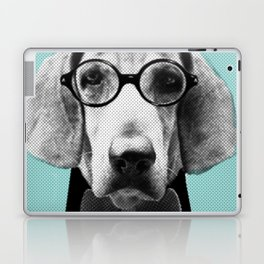 Mr Italian Bloodhound the Hipster Laptop & iPad Skin