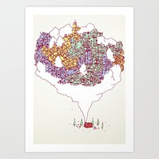 City in the Middle of Nowhere Art Print