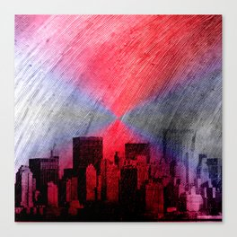 cityscape and colored sky -3- Canvas Print