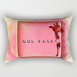QUEN PASA? Rectangular Pillow