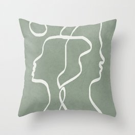 Abstract Faces Throw Pillow