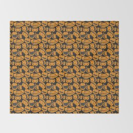 Pumpkin Patch Pattern Throw Blanket