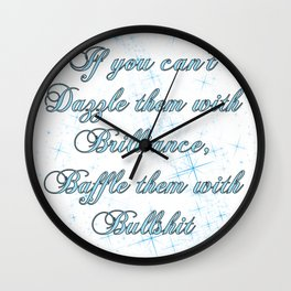 If you can't dazzle them with Brilliance Wall Clock