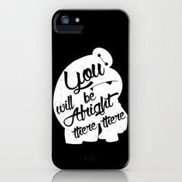 There there (Black v) iPhone Case