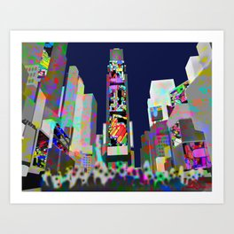 The flow in Times Square New York Art Print