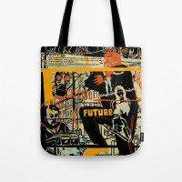 freud Tote Bags featuring Freud III. by Zsolt Vidak