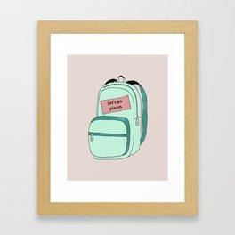 Backpack Framed Art Print