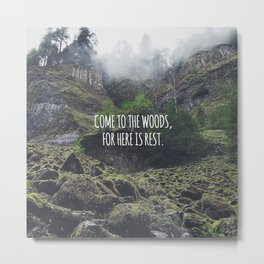 Come To The Woods Metal Print