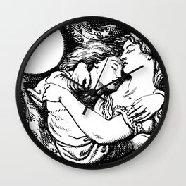 Hypnos & Thanatos Wall Clock