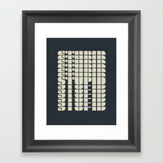 STUPID Framed Art Print