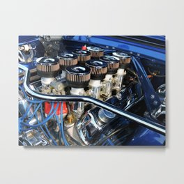 Eight Pack Power Metal Print