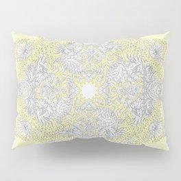 Sunny Doodle Mandala in Yellow & Grey Pillow Sham